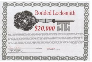 Image of bonded locksmith